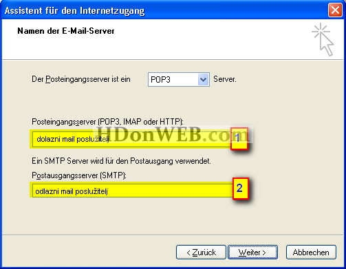 Kreiranje e-mail računa u Outlook Expressu 5i6 Windows XP deu