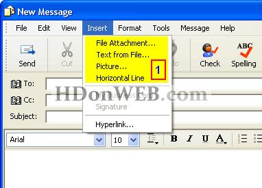 Kako poslati mail u Outlook Expressu 5i6 Windows XP Dodavanje privitka, slike
