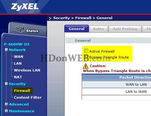 Isključivanje Firewalla kako bi port forward proradio