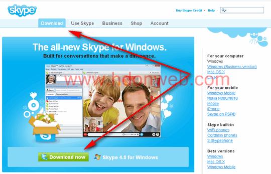 Skype službene stranice za download