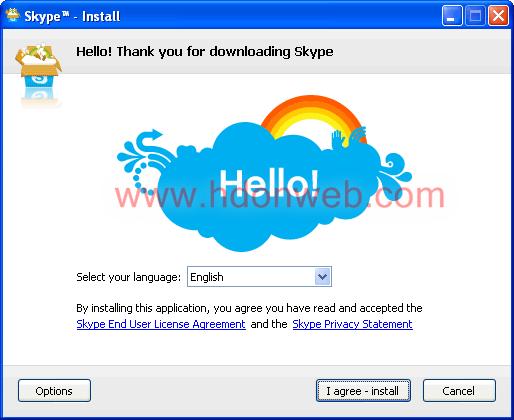 Skype postavke instalacije