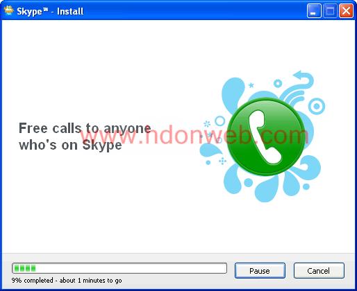 Skype početak instalacije