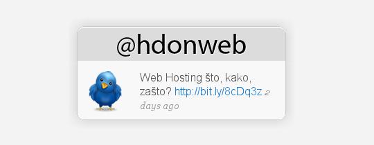 HDonWEB Twitter Status Update