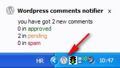 Wordpress Comment Notifier pop up
