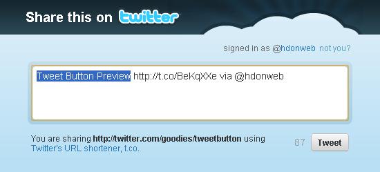 Pogledajte i izgled Tweet prozora