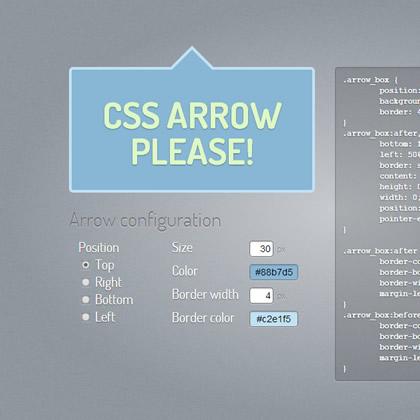 CSS generator tooltip strelice