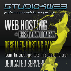 Studio4web, web hosting, registracija domena